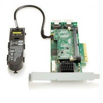 HP Smart Array P410 / 1GB with Flash BWC Controller RAID 011+055+0 (8 link: 2 int (SFF8087) ports SAS) PCI-E x8 incl. h / h   f / h. brckts